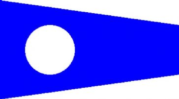 Number 2 Code Signal Pennant